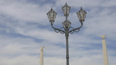Vintage lamp post in the courtyard of Schönbrunn Palace, Vienna Stock Footage