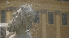 Close up view of a sculpture in the fountain of Schönbrunn Palace, Vienna - stock footage