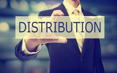 Business man holding Distribution Stock Photos