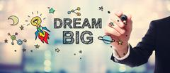 Businessman drawing Dream Big concept Stock Illustration