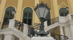 The front staircase of Schönbrunn Palace, Vienna Stock Footage