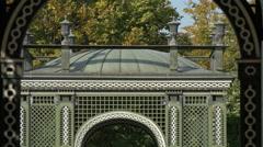 Bautiful imperial pavilions at Schönbrunn Palace, Vienna Stock Footage