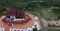 Moving pan around Ho Kham Royal Pavilion Stock Footage