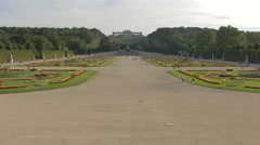 Stock Video Footage of Amazing view of Gloriette and the garden of Schönbrunn Palace, Vienna