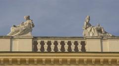 Roof sculptures of Schönbrunn Palace, Vienna Stock Footage