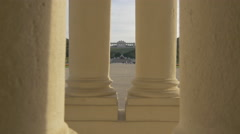 Gloriette seen through the columns of Schönbrunn Palace, Vienna Stock Footage