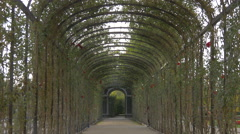 Pergola in the Privy Gardens at Schönbrunn Palace, Vienna Stock Footage
