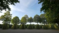 Incredible symmetry at Schönbrunn Gardens, Vienna - stock footage