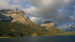 Time-lapse clouds over St. Mary's Lake, Glacier National Park - stock footage