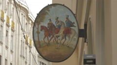 Painting on an oval decoration, Vienna Stock Footage