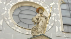 Sculpture with golden details in Vienna Stock Footage