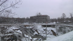 Greenville SC Covered In Snow Stock Footage