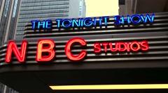 NBC Studios The Tonight Show Stock Footage