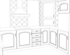 sketch design interior. Illustration created of 3d - stock illustration