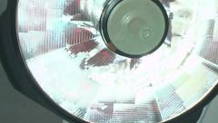 Patient POV operating room surgery light - stock footage