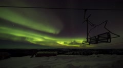 Superb colorful aurora lights seen in Fairbanks Stock Footage