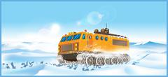 cross-country vehicle - stock illustration