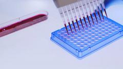 Pcr Processing In Genetic Laboratory Stock Footage