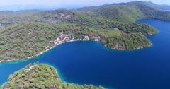 Aerial view of beautiful Mljet Island, Croatia Stock Footage