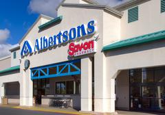 Stock Photo of Albertsons Grocery Store Exterior