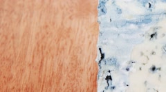 Bit of aged french blue roquefort Stock Footage