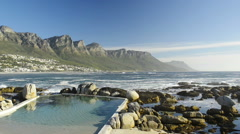 Camps Bay Cape Town South Africa Stock Footage