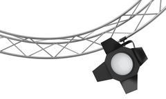 Spotlights hanging on a metal frame - stock illustration