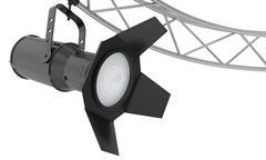 light spotlight lamp hanging on a metal frame - stock illustration