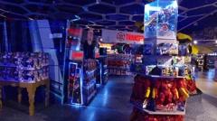Marvel Studios kids department store Stock Footage