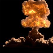 nuclear bomb - stock illustration