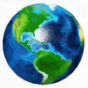 earth plante isolated - stock illustration