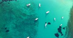Aerial view of beautiful Slatinica beach at Olib Island in Croatia Stock Footage