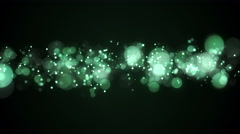 Green bokeh lights abstract loopable background 4k (4096x2304) Stock Footage