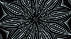 black and white abstract background, kaleidoscope light, loop - stock footage