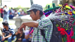 NATIVE MAN SELLING AT PARK 4K Stock Footage