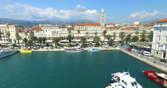 Split harbour Stock Footage