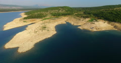 Aerial view of Peruca lake, Croatia Stock Footage