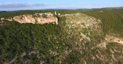 Aerial view of an old hilltop town Lubenice, Croatia Stock Footage