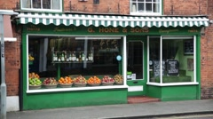 Traditional Vegetable shop in Farnham, England, Europe Stock Footage