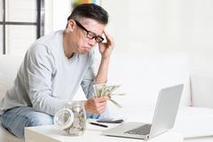 Having financial problem Stock Photos