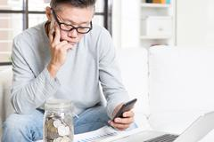 Retirement financial planning - stock photo