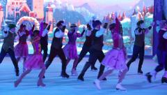 Costume show-ballet on ice. Stock Footage