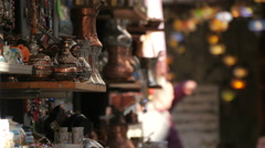 Beautiful view of traditional souvenirs in Mostar, Bosnia-Herzegovina Stock Footage