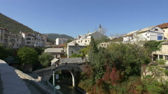 Kriva Cuprija above Radobolja creek in Mostar, Bosnia-Herzegovina Stock Footage
