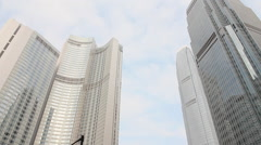 Hong Kong economy, skyscrapers, business Stock Footage