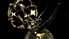 Stock Video Footage of Emmy Award tilt in