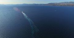 Aerial view of ferry in beautiful Adriatic sea, Croatia - stock footage