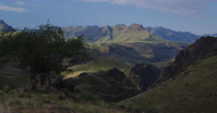 Time lapse, High Desert canyons, green from spring rains, Imnaha River OR - stock footage