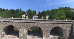 Aerial view of stone Tounj Bridge, Croatia Stock Footage