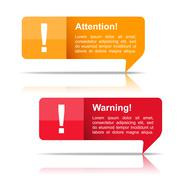 Attention and Warning Banners Stock Illustration
